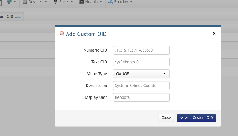 custom oid input fields
